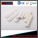 Tubo aislador de cerámica de la esteatita blanca del color