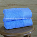 ベストセラーの反応染まる100%年綿の明白な織り方のホテル手タオル、表面タオル、浴室タオルの
