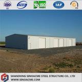耐火性のパネルが付いているプレハブの構造倉庫か研修会または小屋
