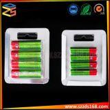 Couvercle de batterie de l'emballage blister avec l'arrière de la carte de papier