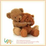 Valentine Dom Soft Borown Sentado Ursinho de Pelúcia Toy