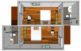Le ce a délivré un certificat 2 unit la Chambre modulaire et mobile de conteneur pour le chantier de construction