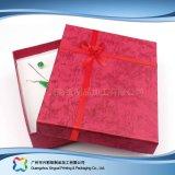 Reloj/joyería/regalo de lujo rectángulo de empaquetado de la visualización de madera/del papel (xc-hbj-047)