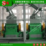 Shredwell Waste Tire Recycling Machine com Scrap Tire Shredder / Rasper / Rubber Granulator