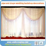 A tubulação do contexto e drapeja a tubulação ajustável da decoração do casamento e drapeja jogos