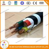 Câble d'alimentation de cuivre 0.6/1kv 25mm2 de PVC
