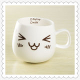 Wholesale Cute Design Low Price Lime pit White Ceramic Mug