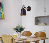 Iluminación moderna de madera blanca pared de metal de la lámpara del aplique de lectura