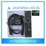 Nieuw! Snelste Macht die SatellietTV Receiver Support H. 265 VideoDecodeing TweelingTuner DVB S2 Zgemma H5.2s in werking stellen