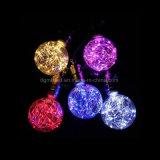 Pequeña iluminación casera de cobre colorida decorativa de lujo minúscula de la hada LED