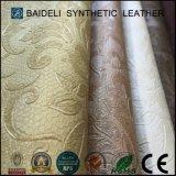 Cuoio domestico moderno del PVC del tessuto per la decorazione della casa della mobilia del sofà con resistenza della fiamma