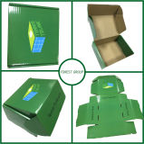 Impresión en color verde zapatos ondulado caja de embalaje