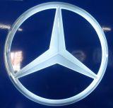 Signe éclairé à contre-jour de logo de véhicule de DEL passé au bichromate de potasse par ABS fait sur commande