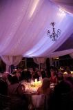Tende esterne di lusso del partito con la decorazione della tenda del rivestimento