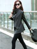 Neuer Frauen-Blazer-Klage-Wolljacke-Mantel-unregelmäßige Muffen-Umhüllungen-Oberseiten
