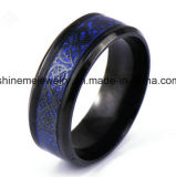 Anel do aço inoxidável do escudo da cor da forma do anel da jóia de Shineme (SSR2791)