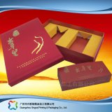 Оптовая торговля картонной упаковки бумаги подарок/Продовольственной/косметическом салоне с вкладышем или крышками (XC-hbf-001)