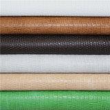 Venda de materiais têxteis PU cabedais de couro com padrão de lagarto