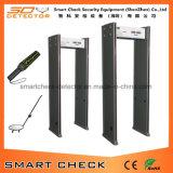 Venta al por mayor 6 zonas detector de metales electrónico detector de metales arqueado