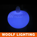 Décoration de jardin Lumière vers le haut Table LED couleur ronde en plastique