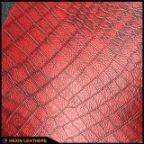 Hx-F1718を作るソファーの椅子のための総合的なワニTcの裏付けPUの革