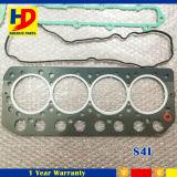 Jogo da gaxeta da revisão de motor de Mitsubishi S4l para o motor Diesel da máquina escavadora