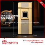 Лихтер дуги фингерпринта металла высокого качества электрический порученный USB двойной
