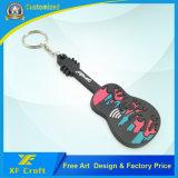 Preço de fábrica personalizado chave de moda / titular de chave de borracha de PVC / chaveiro de violino para promoção / lembrança (XF-KC-P32)