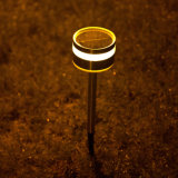 Luz del camino del jardín de la luz LED del césped de la fuente de la energía solar del acero inoxidable