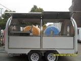 Prix fiable, chariot mobile électrique de la distribution de nourriture de chariots d'hamburgers en vente