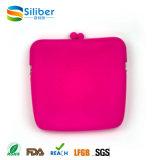 sacos quadrados portáteis da moeda da embreagem da mão das mulheres do silicone para presentes cosméticos