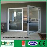 Double porte en aluminium de tissu pour rideaux d'ouverture