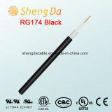 Schwarzer Verbindung über Satelitte Rg174 Koaxial-CCTV-Kabel-Großverkauf