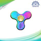 Bluetooth 스피커 음악 방적공 장난감을%s 가진 마술 LED 금속 무지개 손 싱숭생숭함 방적공 장난감