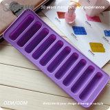 Moulages pourprés de gâteau de silicones de doigts de la FDA DIY 10 pour le coffre-fort