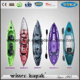 Single LLDPE Сядьте на Top Рыбалка Kayak с удочкой держатель