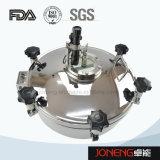 Tipo redondo higiênico câmara de visita do aço inoxidável com luz (JN-ML2002)