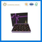 Rectángulo de papel de papel de lujo de embalaje del chocolate de la alta calidad (con la hoja de la insignia)