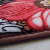 新しいデザインフランネルの印刷の床のマット