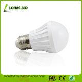 Alto indicatore luminoso di lampadina di plastica di lumen E27 5W LED