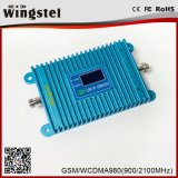 Venta caliente Dual Band 900/2100MHz Signall Booster 2G 3G para móviles de repetidor de señal