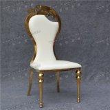Cheap Stee Diorl de acero inoxidable oro blanco con silla de cuero de PU Cojín de asiento en Dubai (YCX-SS26-01)