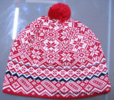 Acrílico de invierno de tejido personalizado Pom Pom Beanie Hat