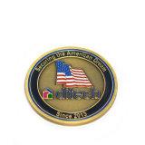 La marca su ordinazione conia la moneta del metallo per la promozione