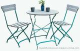 標準的な普及した安い屋外のテラスのレストランの家具の庭の金属の折りたたみ式テーブルおよび椅子