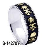 Jóias de moda Novo anel de faixa de homens de prata modelo 925