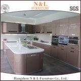 灰色カラー木の家具の高い光沢のある食器棚