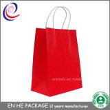 Bolsa de papel impresa aduana cómoda del regalo de las compras de la hoja de Eco