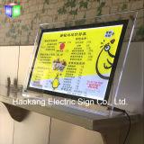 Blocco per grafici acrilico del manifesto del LED per la scheda illuminata del menu
