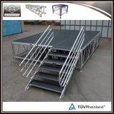Étape portative réglable d'aluminium tout-terrain extérieur d'événement